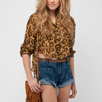Safari Blouse in Brown :: tobi