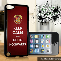 NEW iPod Touch 5 Case - Harry Potter Inspired Keep Calm Go To Hogwarts - 5 Gen Cover GEN5