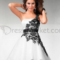 2012 Spring Style Empire Strapless Applique Sleeveless Short / Mini Organza Cocktail Dresses / Homecoming Dresses (SZ016004 )