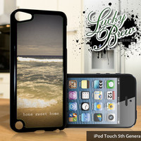 NEW iPod Touch 5 Case  Home Sweet Home Beach by LuckybrewDesigns