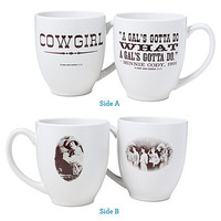 COWGIRL MUGS - SET OF TWO | Coffee Cup, Tea, Glassware, Ceramic, Serveware | UncommonGoods