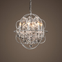 Foucault&#x27;s Orb Crystal Chandelier Polished Nickel Small