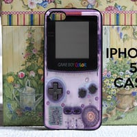 Gameboy   iPhone 5 SNAP ON Case Cover by DanazDesigns on Etsy