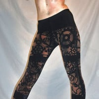 Steam Punk Black American Apparel Winter Leggings