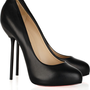 Christian Louboutin Big Stack 120 Leather Pumps - $156