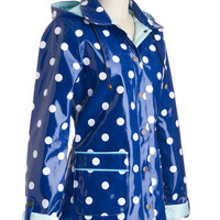 Rain Dots Keep Falling Raincoat | Mod Retro Vintage Coats | ModCloth.com