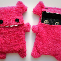 Fellfische - fluffy Cellphone Case for Iphone 3 &amp; 4 - Pink Teeth
