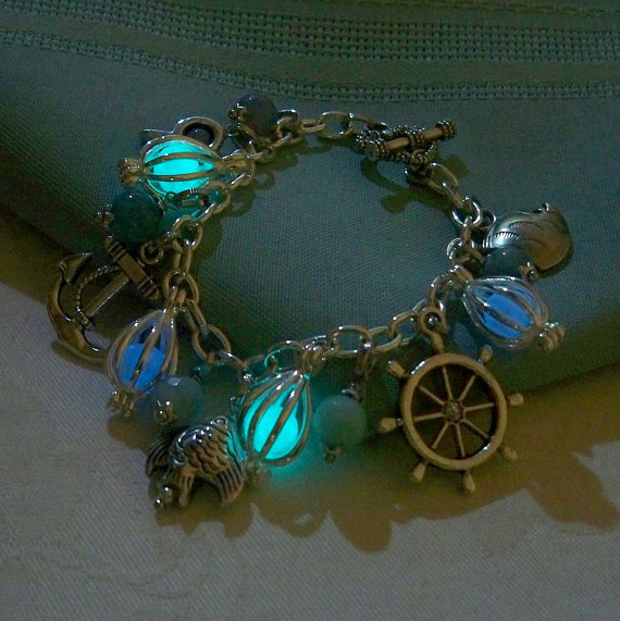 mermaids magic charm bracelet featuring from clover13 on
