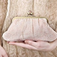 Vanilla lace Fifi pleated clutch by BagatellesAndCo on Etsy