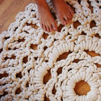 4ft Handmade Mega Doily Rug by ladiesandgentlemen on Etsy