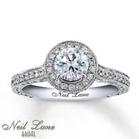 Diamond Engagement Ring 1 3/4 ct tw Round-Cut 14K White Gold