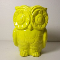 Ceramic Tiki Owl Planter Vintage Design in Star by fruitflypie