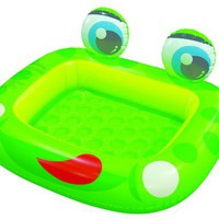 Inflatable Frog Baby Swimming Pool with Plastic Bells Inside Eyes (50
