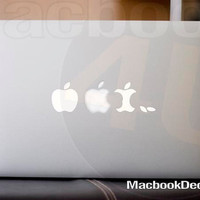Apple White Vinyl Decal sticker for MackBook
