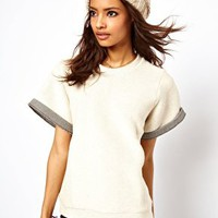 ASOS Sweatshirt with Seam Detail at asos.com