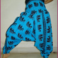 Harem Pant Trouser Harem Pants Baggy Genie Harem Pants Trouser jumpsuit Yoga Boho Gypsy Indian women Flower Printed Pants Free Shipping