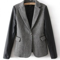 Leather Sleeve Blazer - What's New