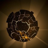 celestial map lighting sconce in translucent by FieldsLighting