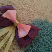 Rapunzel Inspired Disney Bow by JordansBowtique on Etsy