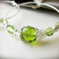 Hoop Earrings Absinthe Fizz by BeatificBijoux on Etsy