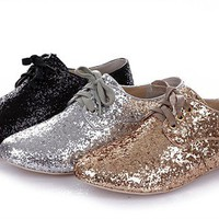 Miu Miu Sparkle Loafers from Patsy's Pink Sparkle