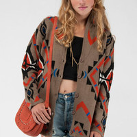Powhatan Sweater in Brown Multi :: tobi