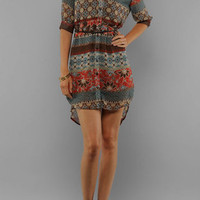 Printer Dress in Brown :: tobi