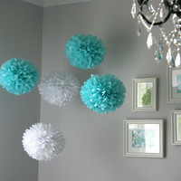 Tiffany  Tissue Paper Poms / Wedding / Birthday / by PartyPoms