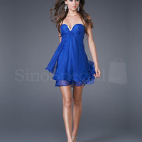 Fashion Strapless Royal Blue Homecoming Dress from SinoSpecial