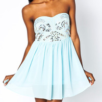 pearl-embellished-tube-dress AQUA - GoJane.com