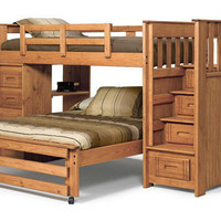 Ramsey Twin over Full Upstairs Downstairs Loft Bed