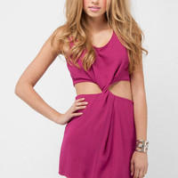 Twister Zipper Dress in Magenta :: tobi