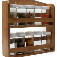 Danesco Natural Living Spice Rack - Bamboo - Wall
