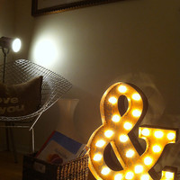 Vintage Industrial Metal Marquee Lights - Ready to Ship - Ampersand &