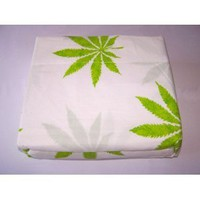 Amazon.com: Marijuana Leaf Weed Pot Cannibis Leaf on White Background Sheet Set Full Size: Home &amp; Kitchen