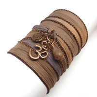 Silk Wrap with Copper Om Charms | charmed design
