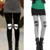 *Free Shipping* Skull Heads Elastic Cotton Legging from clothingloves