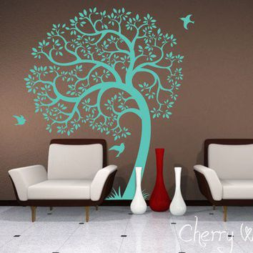 Tree Wall decal AMAZING tree removable vinyl decal by CherryWalls