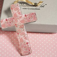 Murano Glass Art Deco Cross - 2 Colors Available