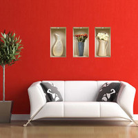 3D Effect Tall Vase Wall Decal | 3D Effect | Wall Decals | Animi Causa Boutique
