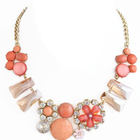 Coral Emma Necklace – Modeets.com