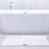 Memory Foam Bath Mat 21x34 Chocolate
