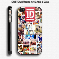 ONE DIRECTION 1D Logo Photo Collage Custom IPhone by luxuryartcase