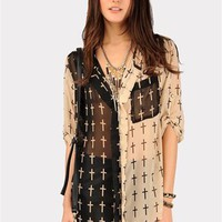 Baby Cross Pocket Blouse - Beige