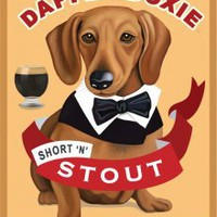 """Dapper Doxie"" Retro Print"