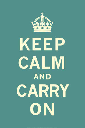 Keep Calm and Carry On Print at Art.com