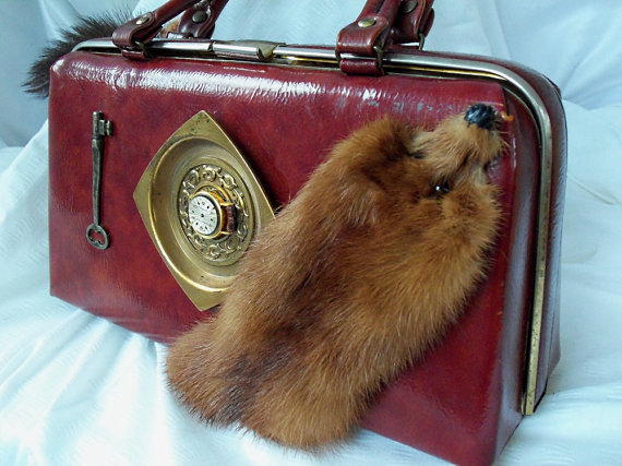 Dr Bag style purse vintage leather vintage by HopscotchCouture