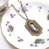 What Alice Saw vintage keyhole necklace by LazyOwlBoutique