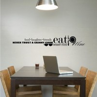 Food and Wine Wall Decal Collage  Vinyl Text by singlestonestudios