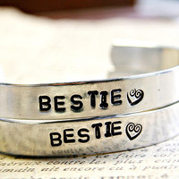 Friendship Bracelet CUSTOM Bestie Hand Stamped by AlwaysAMemory